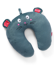 Neck Support Pillow Animal Face Print - Blue