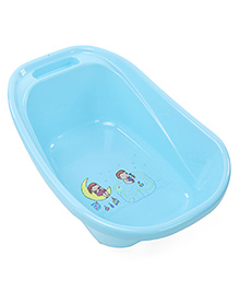 Baby Bath Tub Boy & Girl Print - Blue
