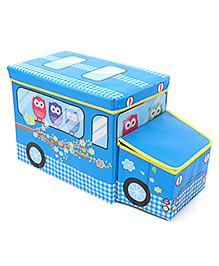 Foldable Storage Box With Cover - Blue