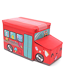 Foldable Storage Box With Cover - Red