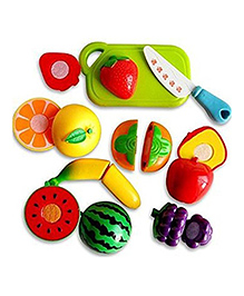 Webby Sliceable Fruits & Vegetables Set Multicolour - Pack Of 9 Pieces