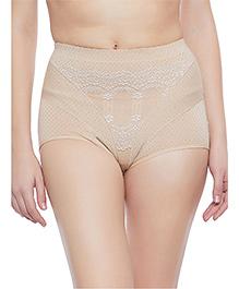 Clovia Tummy Tucking High Waist Brief - Beige - 2175748