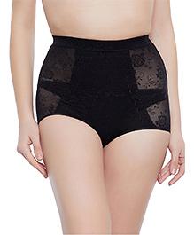 Clovia Tummy Tucking High Waist Brief - Black (Extra Large)