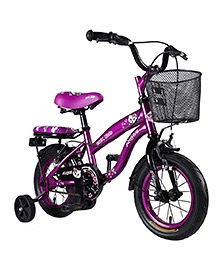 Vaux Angel Bicycle With Basket Purple - 12 Inches
