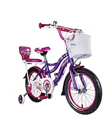Vaux Princess Bicycle With Training Wheels Purple - 16 Inches