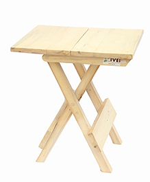 IVEI Wooden Portable Folding Table Medium - Off White
