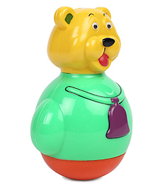 Ratnas Bear Shaped Roly Poly Toy - Green Yellow