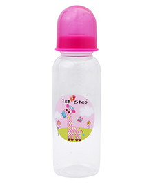 1st Step Feeding Bottle White And Pink - 250 Ml