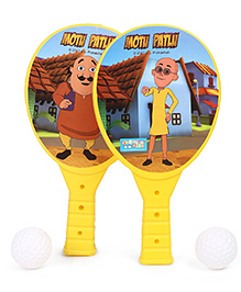 Motu Patlu Junior Racket Set - Yellow