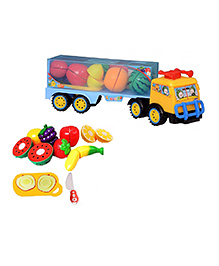 Emob 2 In 1 Truck & Sliceable Fruit Cutting Toy - Multi Color