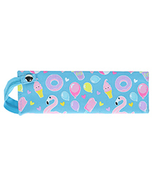 Smilykiddos Zipper Closure Pencil Pouch Star Print - Blue