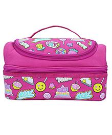 Smilykiddos Double Decker Lunch Box Bag Circus Print - Pink