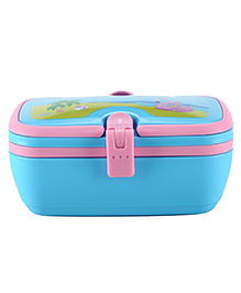 SmilyKiddos Fantasy Lunch Box With Island Design - Pink & Blue