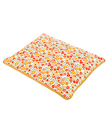 Kanyoga Mustard Seeds Filled Pillow Floral Print - Multicolour