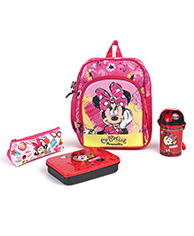 Disney Minnie Mouse & Friends School Kit Pack Of 4 - Blue Red
