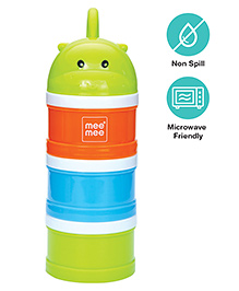 Mee Mee Multipurpose Milk & Food Storage Container - Green Orange & Blue