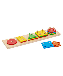 Eduedge Wooden Shape Sorter Multicolour - Pack Of 15 Pieces