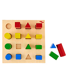 Eduedge Wooden Shape Ascender Multicolour - Pack Of 16 Piece