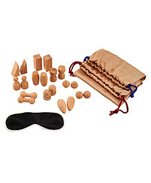 Eduedge Wooden Mystery Bag Brown - Pack Of 20 Pieces
