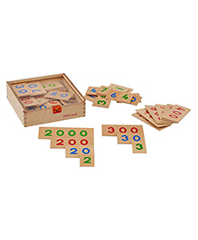 Eduedge Wooden Number Cards Brown - Pack Of 3000 Pieces
