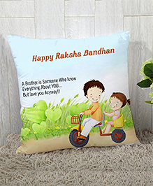 Stybuzz Raksha Bandhan Rakhi Gift Cushion Cover - Green
