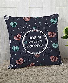 Stybuzz Raksha Bandhan Rakhi Gift Cushion Cover - Navy