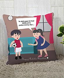 Stybuzz Raksha Bandhan Rakhi Gift Cushion Cover - Multicolor