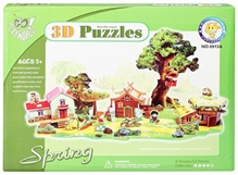 Fab N Funky –  Intellectual 3 D Puzzle Spring Season Set