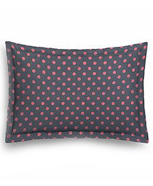 The Baby Atelier Junior Pillow Cover Without Fillers Polka Dot - Grey