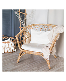 The Baby Atelier Pillow Cover With Fillers - Off White