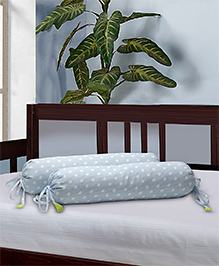 The Baby Atelier Bolster Cover With Fillers Polka Dot Print - Blue & White