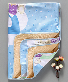 Diaper Changing Mat Teddy Bear Printed - Blue