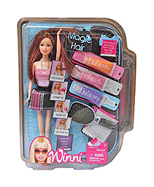 Toyshine Magic Hair Color Changing Doll With Accessories - Colour May Vary