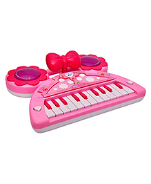 Toyshine Mini Piano Keyboard With Lights And Music, Pink