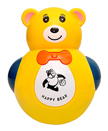 Toyshine Push And Shake Wobbling Roly Poly Tumbler Teddy - Yellow
