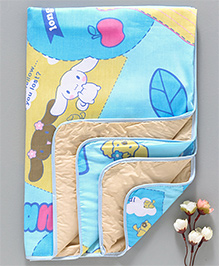 Diaper Changing Mat Puppy Printed - Blue