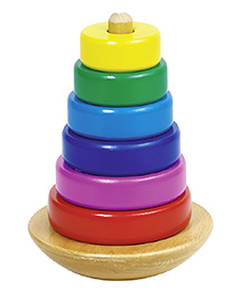 Goki Stacking Tower With Rings Multi Colour - Pack Of 7