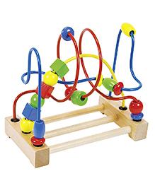 Goki Goki Wooden Bead Coaster - Multi Colour