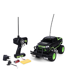 Smiles Creation Remote Control Wheel Stunt Car With Charger & Light - Black And Green