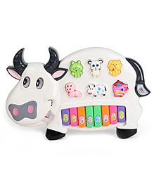 Dr. Toy Musical Cow Shape Piano - White