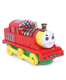 Dr.Toy Battery Operated 4D Flash Electric Train Engine Toy With Lights & Sound - Yellow & Red