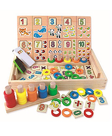 Curtis Toys Wooden Arithmetic Toy Box - Multicolour