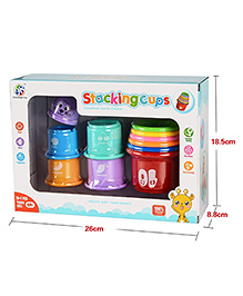 Curtis Toys Stacking Cups Multicolour - 11 Pieces