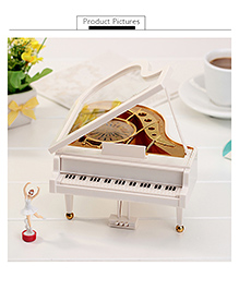 Curtis Toys The Classical Piano Wind-up Musical Toy - White