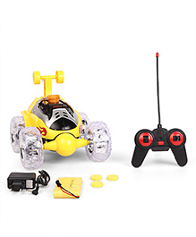 Dr. Toy Remote Control Stunt Car With Charger - Yellow
