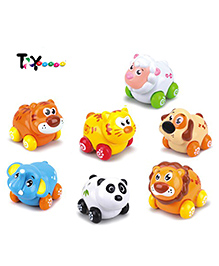 Toyhouse Animal Paradise Pull Along Toy Multicolour - Pack Of 7 Pieces