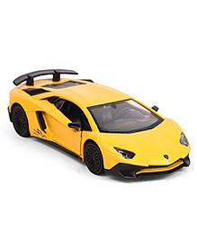 RMZ Die Cast & Pull Back Lamborghini Aventador Car Toy - Matte Yellow