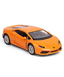 RMZ Die Cast & Pull Back Lamborghini Huracan Car Toy - Matte Orange