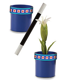 Melissa & Doug Magic Flower Pot Trick Set - Blue Black