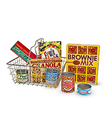 Meliss And Doug Let's Play House Grocery Basket - Red & Yellow